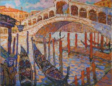 pejz_landscape_oil painting_7  Realto bridge