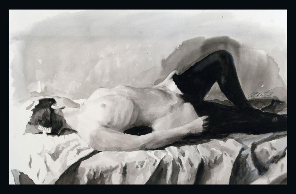 Фото из частной коллекции на природе в стиле ню, женщину с огромными сиськами трахают